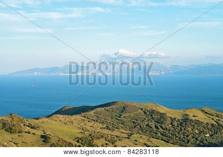 A view of Morocco across the Strait of Gibraltar