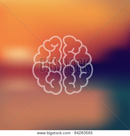 brain icon on blurred background