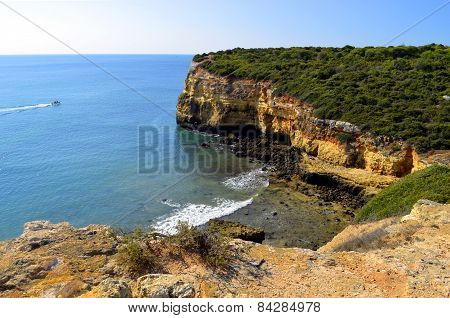 The Cliffs at Senhora Da Rocha, Nova Beach on the Algarve, Portugal