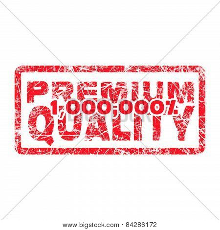 Premium Quality Million Percent Grungy And Scratched Red Stamp