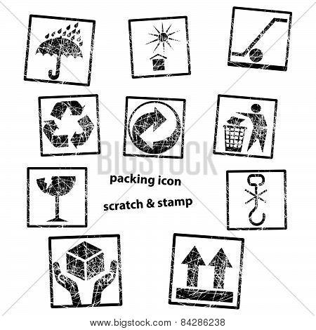 Handling & Packing Icon Set