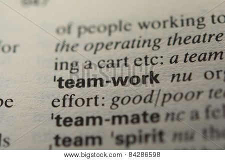 Definition of the word teamwork