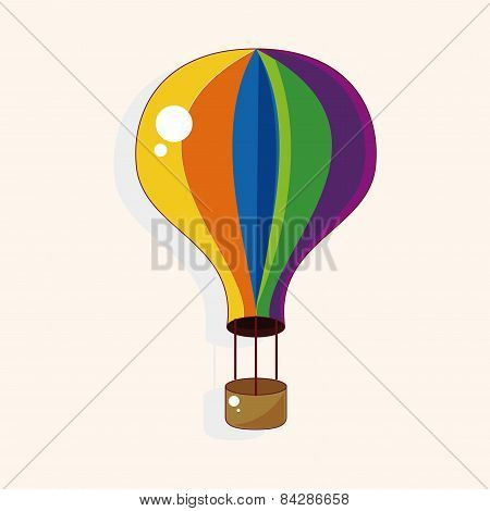 Playground Hot Air Ballon Theme Elements Vector,eps