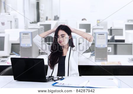 Exhausted Beautiful Businesswoman