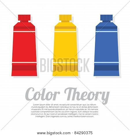 Set Of Primary Color Tubes.