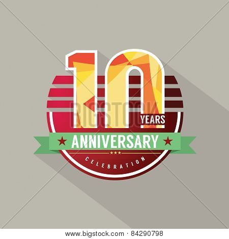 10 Years Anniversary Celebration Design.