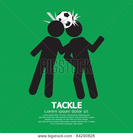 Tackle Soccer Sign.