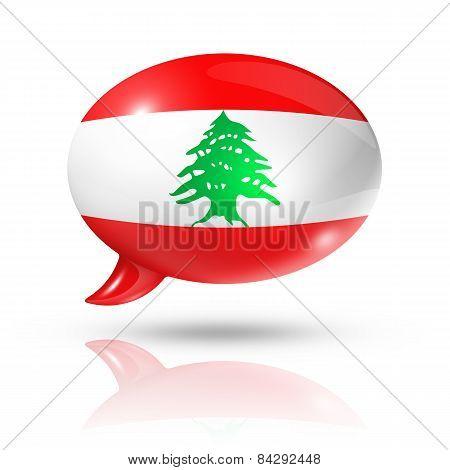 Lebanese Flag Speech Bubble