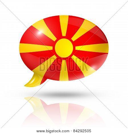 Macedonian Flag Speech Bubble