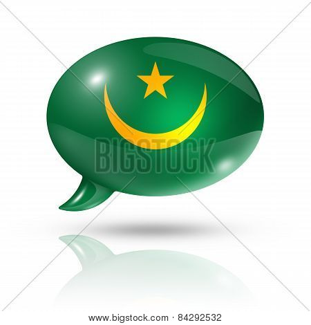 Mauritanian Flag Speech Bubble
