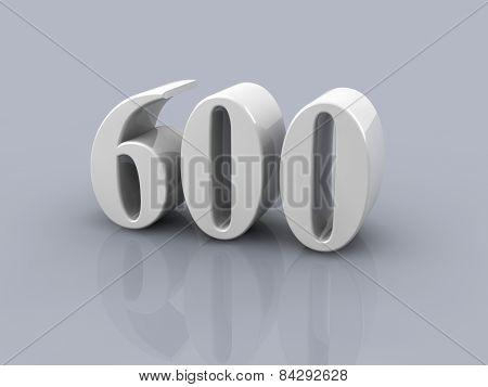 Number 600