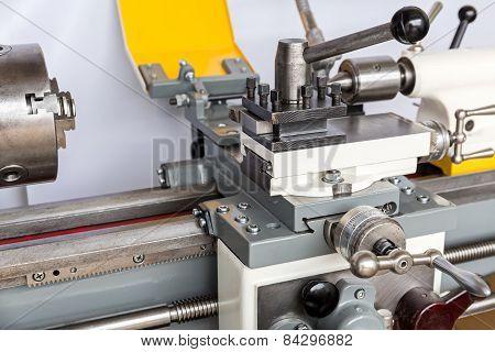 Lathe In A Machine Shop