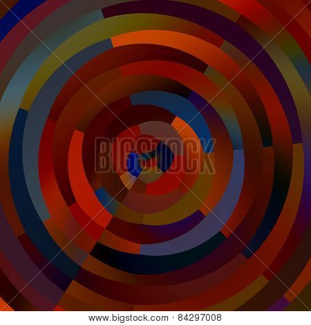 Weird colorful circles. Abstract shapes mosaic. Decorative circle stripes. Creative art background.