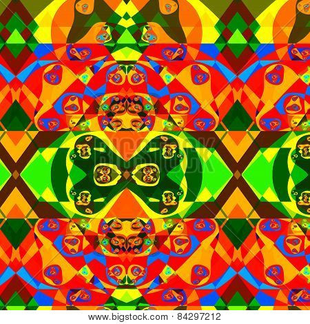 Psychedelic colorful fractal composition. Abstract decorative fantasy background. Illustration.