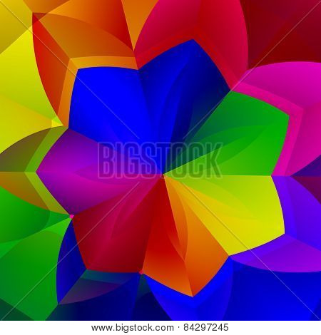 Artistic vibrant flower shape. Colorful abstract background. Decorative floral image. Illustration.