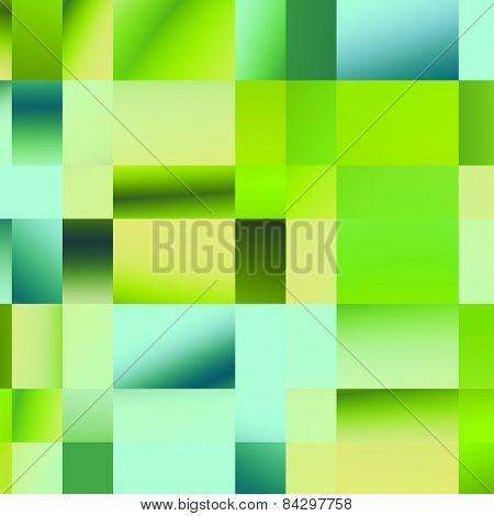 Plaid green pattern. Abstract geometric background. Colored mosaic illustration. Polygonal elements.
