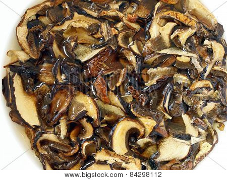 Soaked Dried Mushrooms