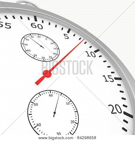 Close stopwatch isolated on white background