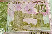 Постер, плакат: Khyber Pass on Pakistan Banknote