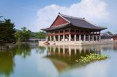picture of seoul south korea  - Gyeonghoeru Pavilion of Gyeongbokgung Palace - JPG