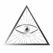 stock photo of illuminati  - All seeing eye symbol - JPG