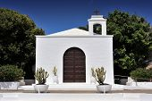 pic of senora  - church of Nuestra Senora del Carmen at Arrieta Lanzarote Island Canary Islands Spain - JPG
