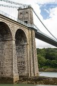 pic of anglesey  - Telfords 1826 Suspension Bridge over the Menai Straits - JPG