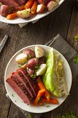 image of corn  - Homemade Corned Beef and Cabbage with Carrots and Potatoes - JPG