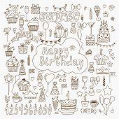 picture of birthday  - Hand drawn Birthday elements - JPG