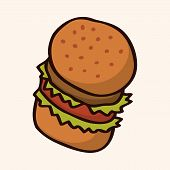pic of high calorie foods  - Fast Food Hamburger Flat Icon Elements - JPG