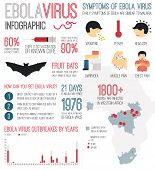 stock photo of virus  - Infographic about deadly ebola virus  - JPG