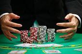 stock photo of won  - Blackjack winner - JPG