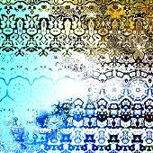 foto of psychedelic  - Grungy retro artwork - JPG