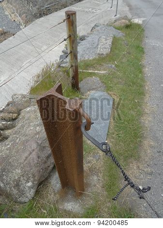 Railway Track Fencing Post Pathway