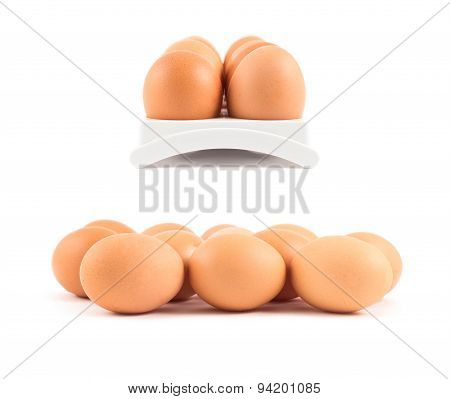Bunch of eggs isolated