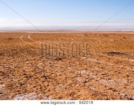 Driving On The Lake Bed