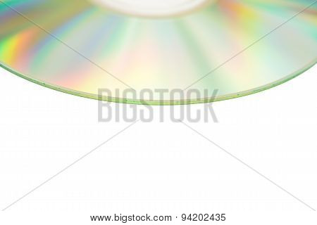 Compact Discs On A White Background With Clipping Path