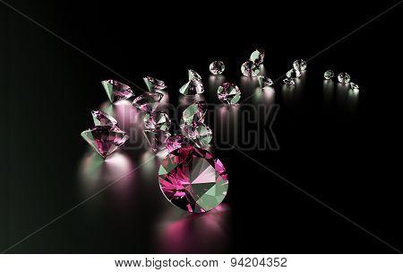 Jewelry gemstone on dark  background