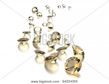 Big diamond collection. Jewelry background