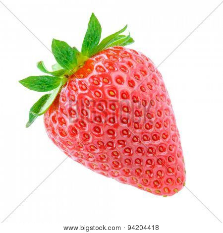 Sweet Juicy Strawberry Isolated on the White Background. Summer Healthy Food Concept