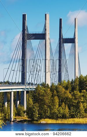 Modern bridge in Finland.