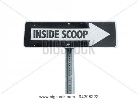 Inside Scoop direction sign isolated on white