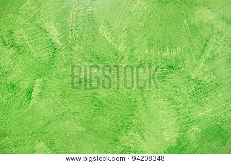 Green Ecological Background - Grunge Hand Painted Textured Wallpaper - Modern Varnish Matt