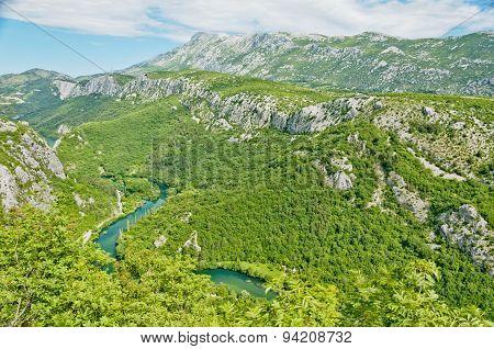 Cetina River Panorama