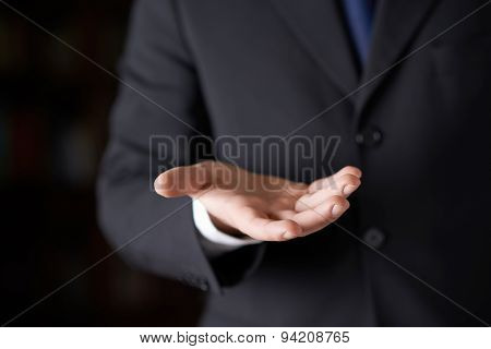 Fragment of a man in a business suit