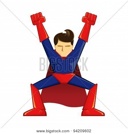 Superhero Winning Pose