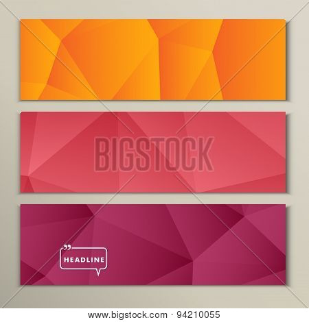 Set abstract bright picture pink red orange