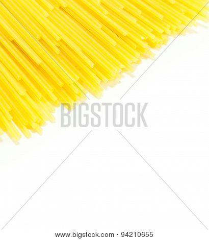 Spaghetti Raw Isolated On White Background
