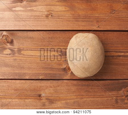 Single brown potato composition