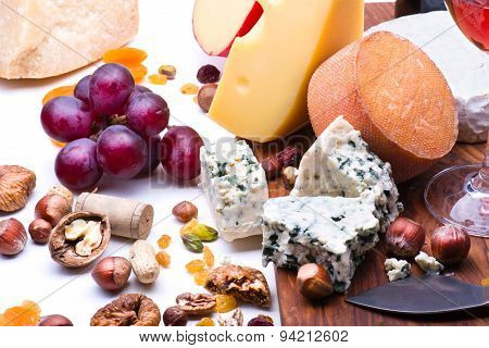 Cheeses With Dried Fruits And Nuts